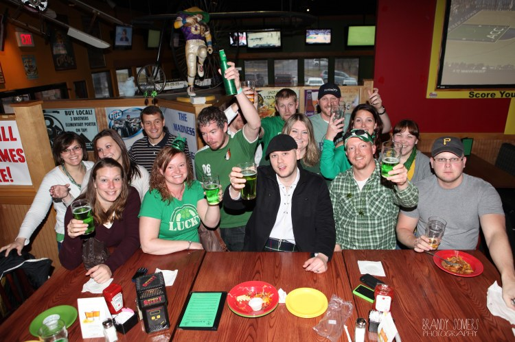 green juice and green shirts