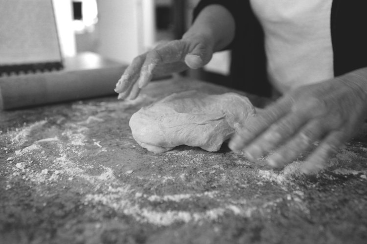 Mommy's hands and dough